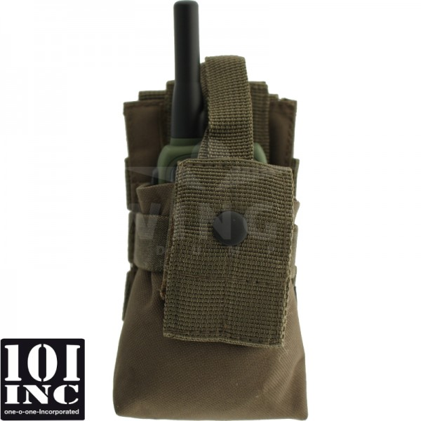 Molle system radio utility pouch groen