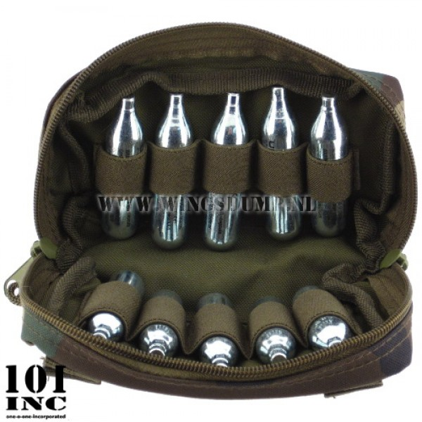 Molle system shot shell co2 pouch woodland