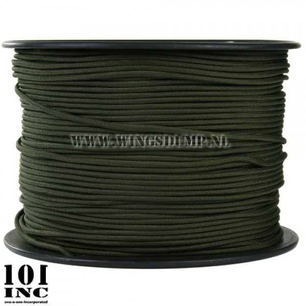 Paracord 7 strings groen per meter