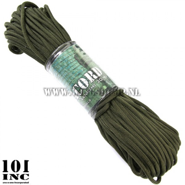 Paracord 7 strings 30 meter groen
