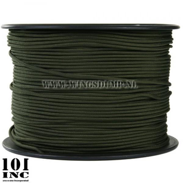 Paracord 7 strings groen per meter
