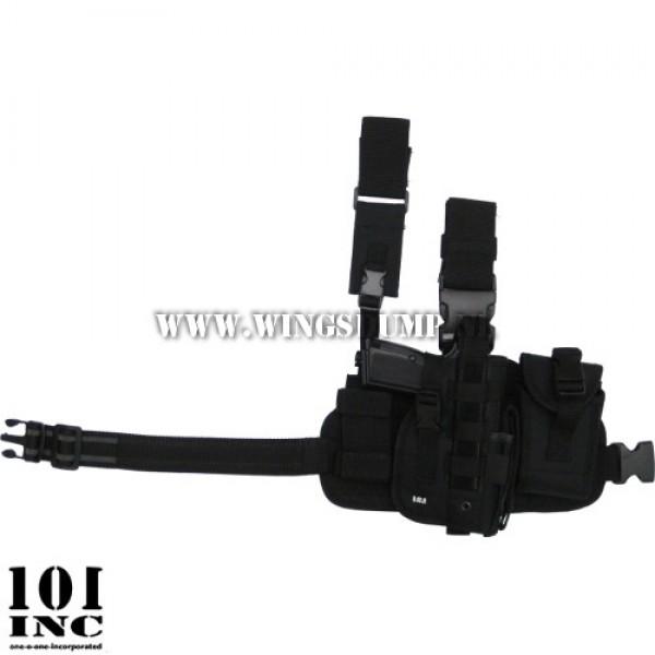 Beenholster 101Inc. molle system zwart