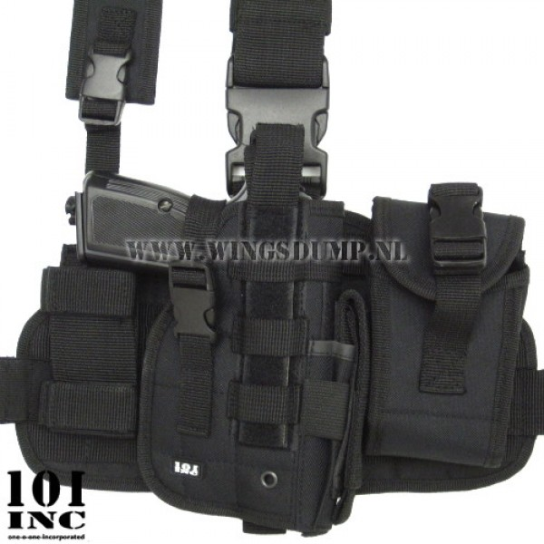 Beenholster 101Inc. molle system zwart