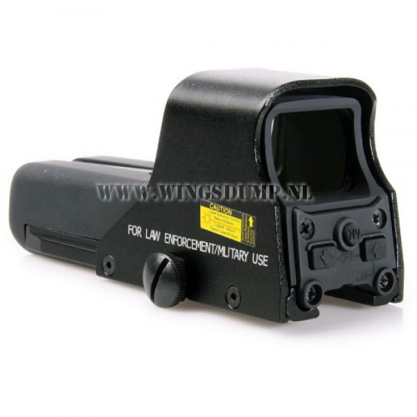 Holographic sight 552 met red en green dot zwart