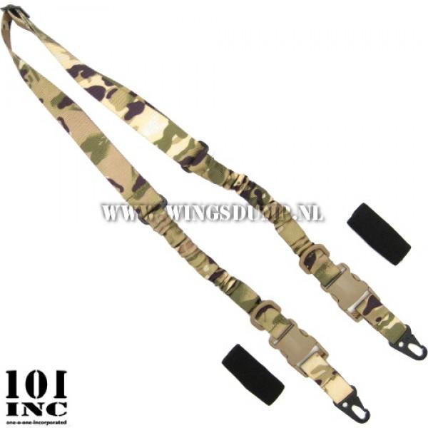 2-point sling met twee dempers multicamo