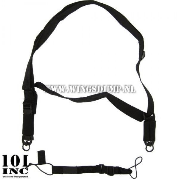 3-point sling met wapenmount zwart