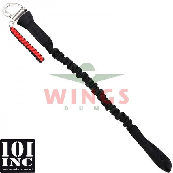 1-point rope sling met demper en buckle zwart