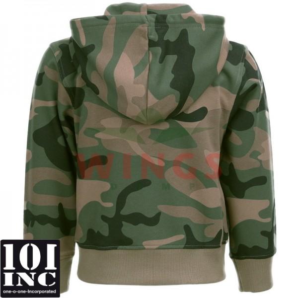 Kinder hooded zipsweater woodlandcamo