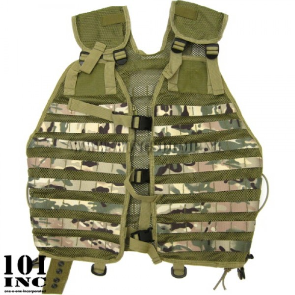 Tactical Molle vest mesh multicamo