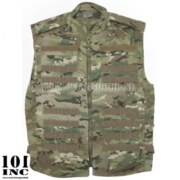 Tactical recon vest multi camo