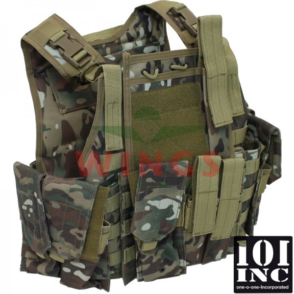 Tactical vest 101Inc. Trooper DTC camo