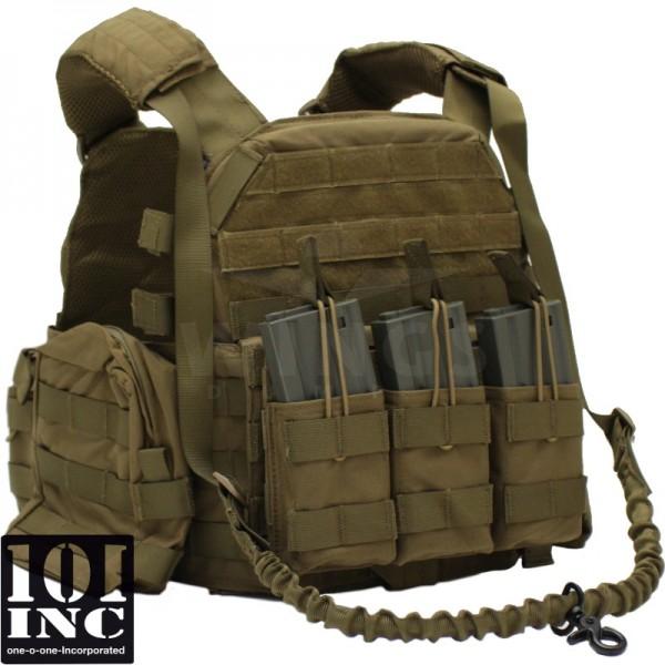 Tactical vest 101Inc. Operator coyote tan