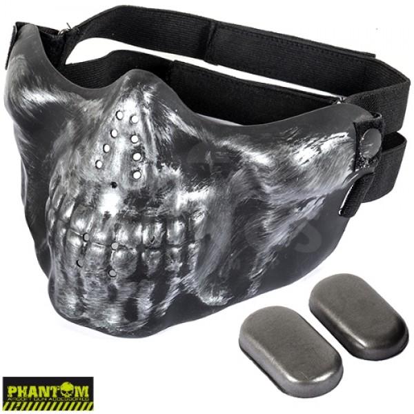 Airsoft masker skull halfface grey