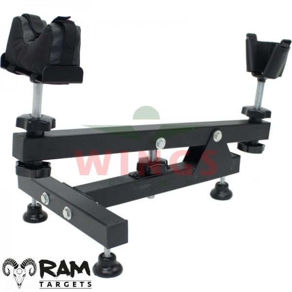 Ram geweersteun bench rest metaal