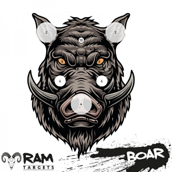 Schietkaarten Ram Targets 14x14 cm wild zwijn 50 stuks