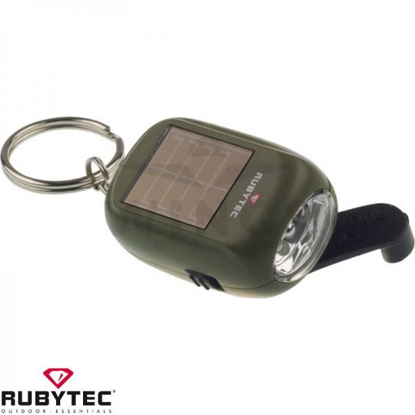 Rubytec oplaadbare solar ledlamp olive