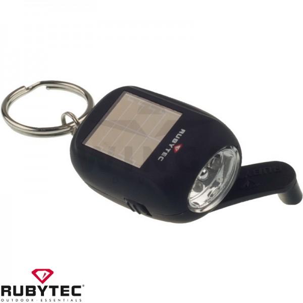 Rubytec oplaadbare solar ledlamp zwart