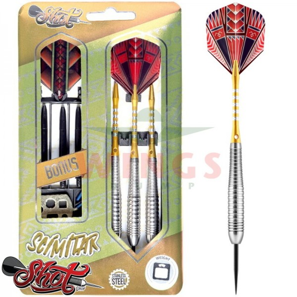 Shot Scimitar steel darts