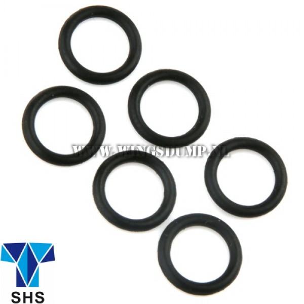 Rubber O-ringen 5 x 1 m.m. 6 stuks