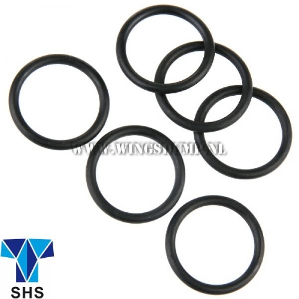 Rubber O-ringen 19 x 2,5 m.m. 6 stuks