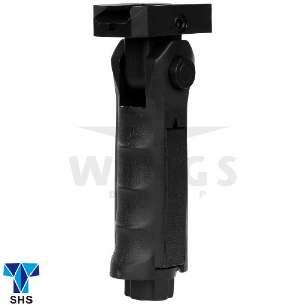 SHS airsoft folding foregrip 14,5 cm. zwart