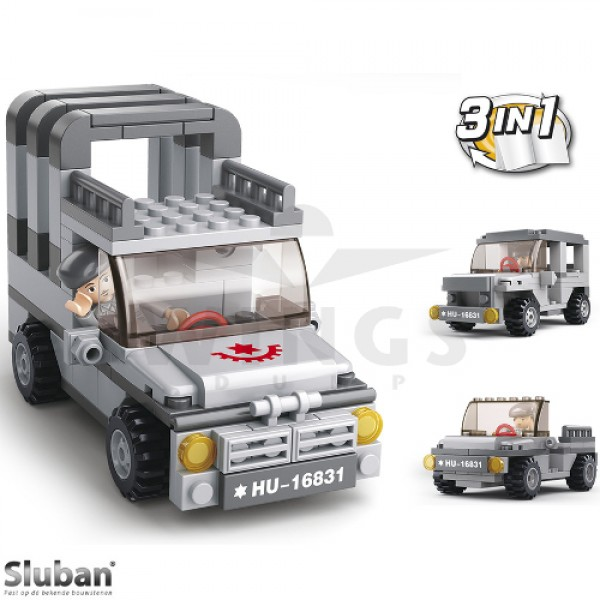 Sluban Army 3 in 1 observatie jeep