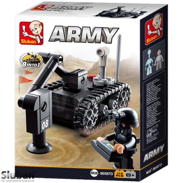 Sluban Army 8 into 1 Mijnopruimer zwart