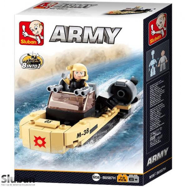 Sluban Army 8 into 1 Speedboot beige