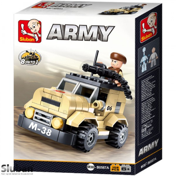 Sluban Army 8 into 1 Patrol Jeep