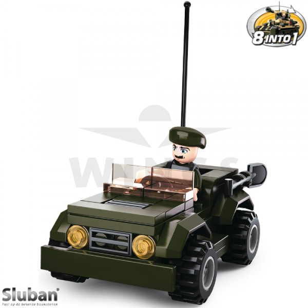 Sluban Army 8 into 1 Jeep groen