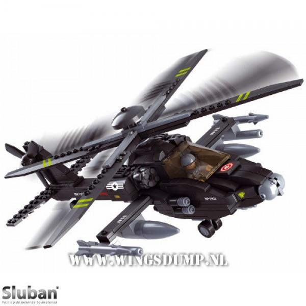Sluban Apache helicopter zwart