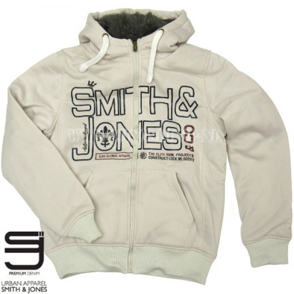Hooded bontvest Smith and Jones printed white