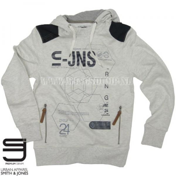 Hooded sweater Smith & Jones ecru marl