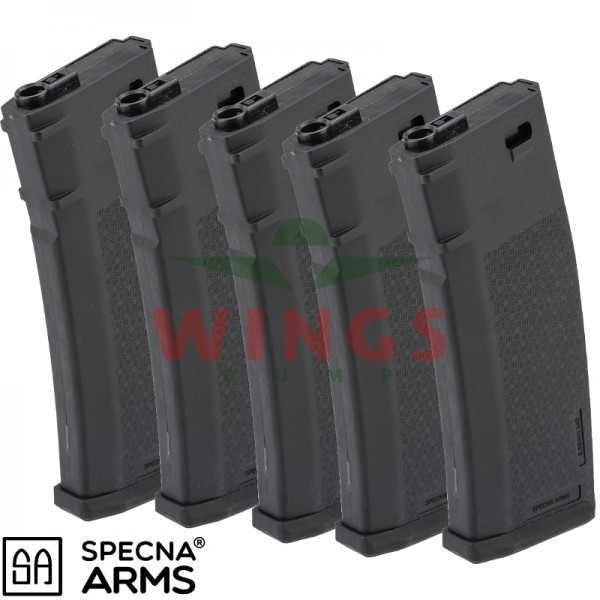 Specna Arms S-Mag M4 mid-cap magazijn 125 rounds 5-pack