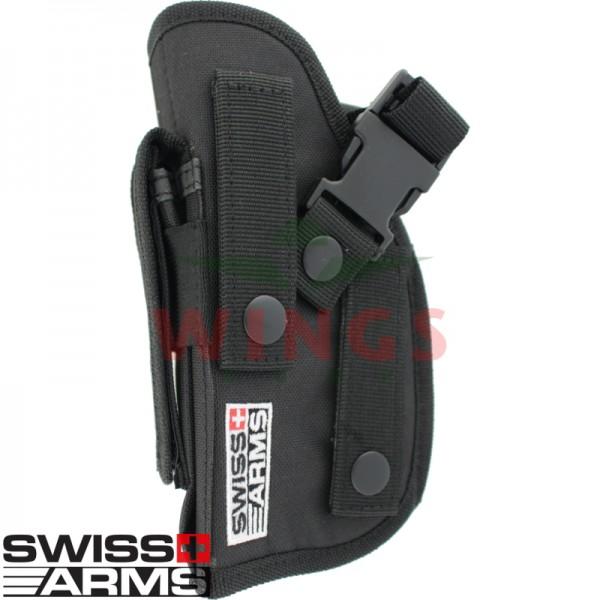 Riemholster Swiss Arms zwart