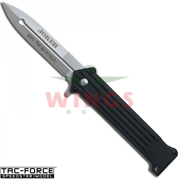 Tac-Force lockmes 203 mm joker zwart/rvs