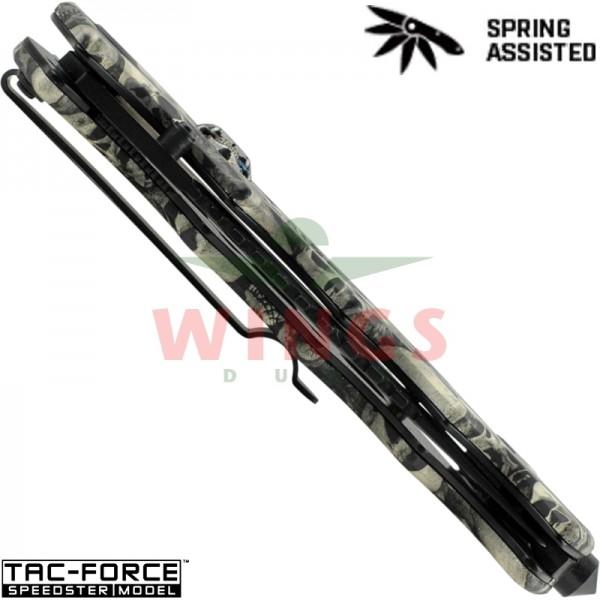 Tac-Force lockmes 210 mm whiteskull halfauto