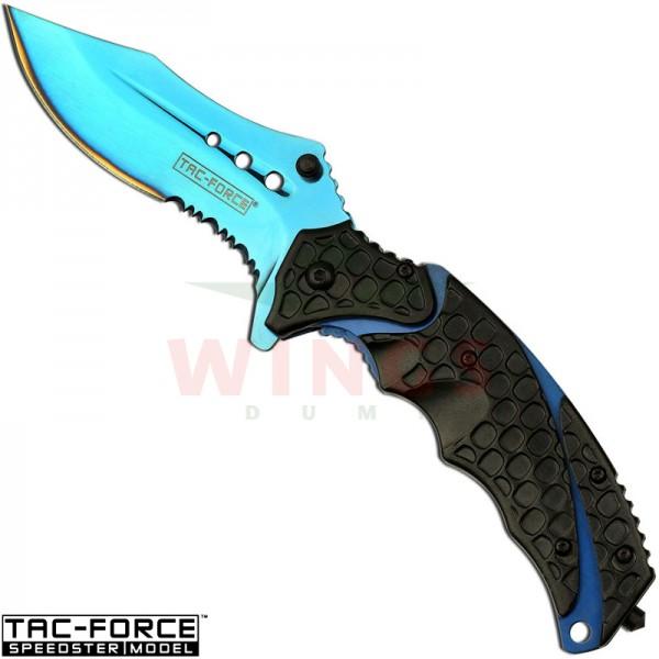 Tac-Force lockmes 219 mm blue tita halfauto