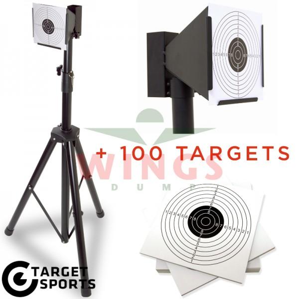 Target schietkast met tripod stand