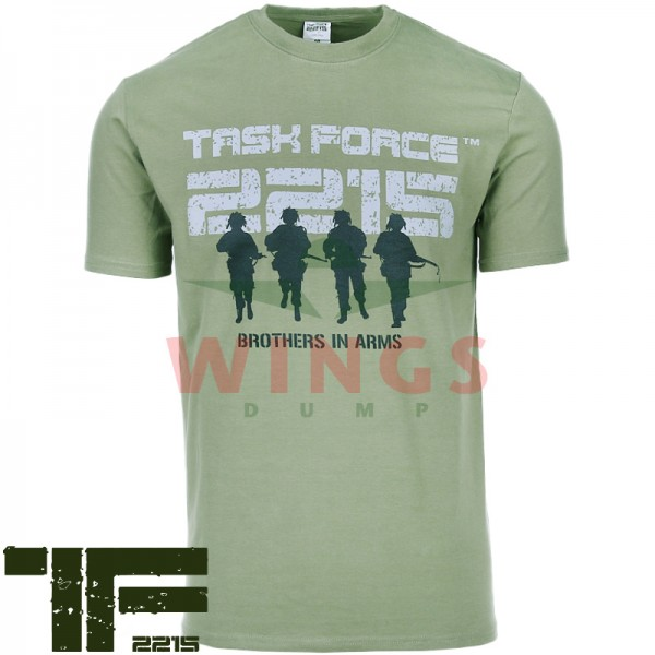 T-Shirt TF-2215 groen Brothers in Arms
