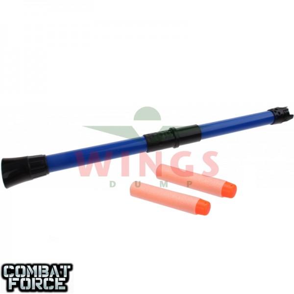 Speelgoed blowgun ninja 34 cm. blauw