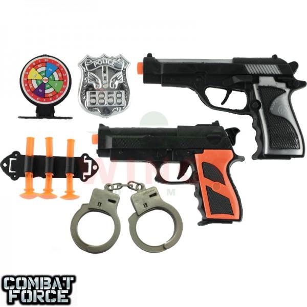 Speelgoed Police set met 2 pistolen
