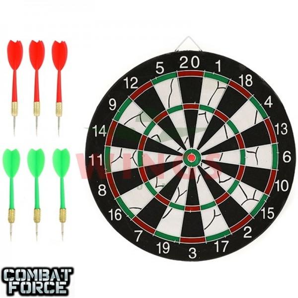 Speelgoed dartbord 2-zijdig met 6 darts