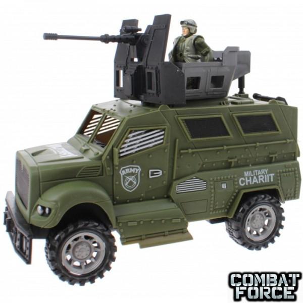 Speelgoed army set jeep 24cm. met soldier