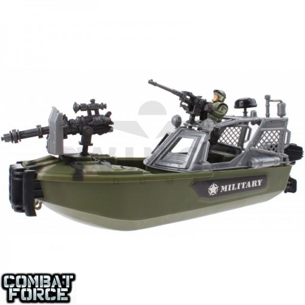 Speelgoed army set speedboot met soldier