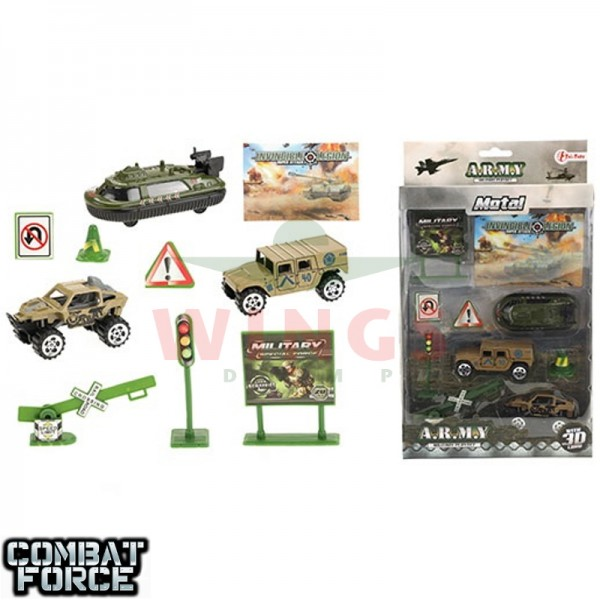 Speelgoed set Army met buggy jeep en boot
