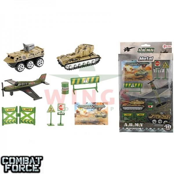 Speelgoed set Army met twee tanks en een vliegtuig