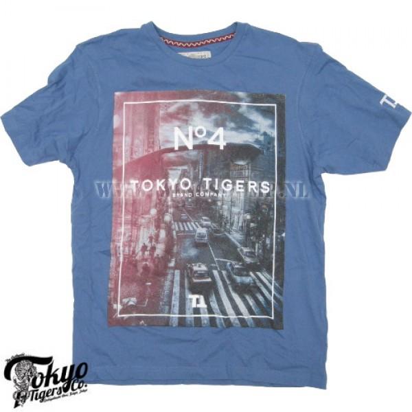 T-Shirt Tokyo Tigers no.4 blue