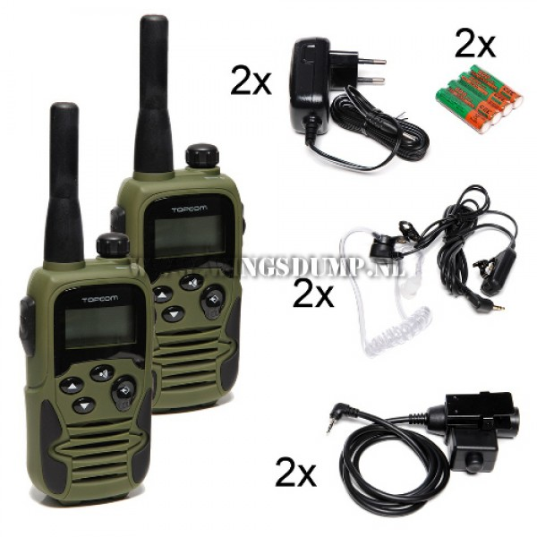 Topcom Twintalker 9500 Airsoft Edition duo set