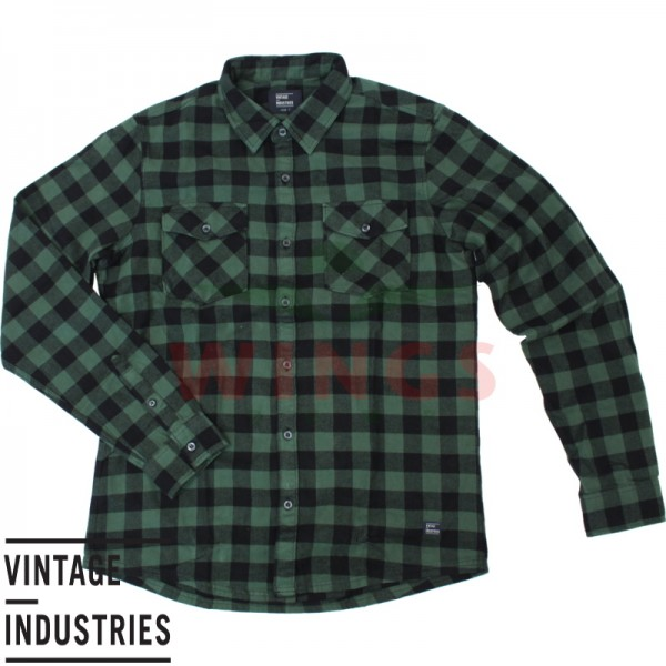 Vintage Harley shirt green check